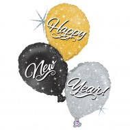 "Happy New Year Ballon Buket folie ballon 32""/80cm (u/helium)"