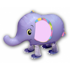 "Elefant lilla walking folie ballon 18"" (u/helium)"