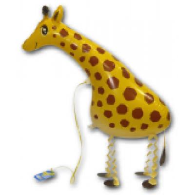 "Giraf walking folie ballon 28"" (u/helium)"