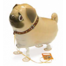 "Mops hund walking folie ballon 22"" (u/helium)"