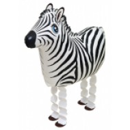 "Zebra walking folie ballon 25"" (u/helium)"