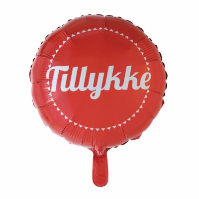 "Tillykke folie ballon 18"" (u/helium)"