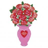 "Happy Valentine's Day buket folie ballon 56"" (u/helium)"