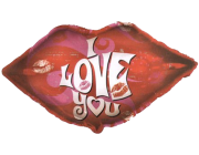 I Love You lips foil balloon 22""