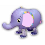 "Elefant lilla walking folie ballon 18"" (u/helium)"