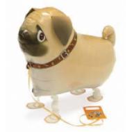 "Mops hund walking folie ballon 22"" (u/helium)"
