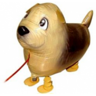 "Terrier hund walking folie ballon 19"" (u/helium)"