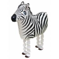 """Zebra walking folie ballon 25"""" (u/helium)"""