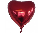 "Heart foil balloon Red 36"" (without helium)"