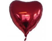 "Hjerte folie ballon Rød 18"" (u/helium)"